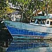Chauvin La Blue Bayou Boat Poster
