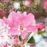 Cherry Blossom Art With Decorations Poster