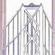 Chesapeake Bridge Between The Lines Poster