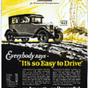 Chevrolet Ad, 1926 Poster