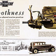 Chevrolet Ad, 1929 Poster