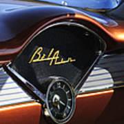 Chevrolet Belair Dashboard Clock And Emblem Poster