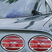 Chevrolet Corvette Tail Light Poster