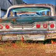 Chevy Blue Poster