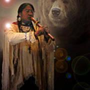 Cheyenne  Flute  Musician Poster