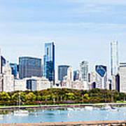 Chicago Panorama Skyline Poster by Paul Velgos