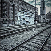 Chicago Rail Station Poster by Donald Schwartz