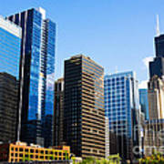 Chicago Skyline Downtown City Buildings Poster