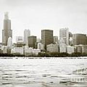 Chicago Skyline In Winter  Poster by Paul Velgos