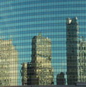 Chicago Window Reflections Poster