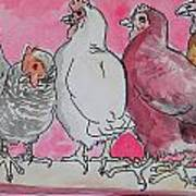 Chickens Poster by Jenn Cunningham