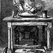 Child Eating, 1875 Poster