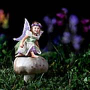 Child Fairy On Mushroom Poster