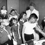 Children Inoculated Against Diphtheria Poster by Everett