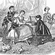 Childrens Fashion, 1868 Poster
