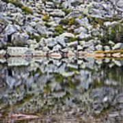 Chimney Pond Reflections Poster
