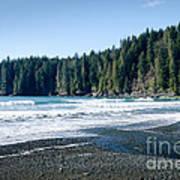 China Surf China Beach Juan De Fuca Provincial Park Bc Canada Poster