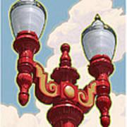 Chinatown Street Light Poster by Mitch Frey
