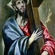Christ Clasping The Cross Poster