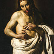 Christ Displaying His Wounds Poster