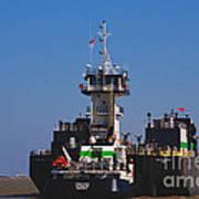 Christiana Oil Tanker Sitting In Galveston Tx Poster
