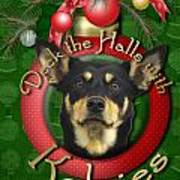 Christmas - Deck The Halls With Kelpies Poster