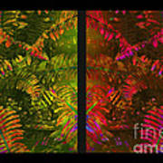 Christmas Fern Diptych Poster