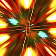 Christmas Light Abstract Poster