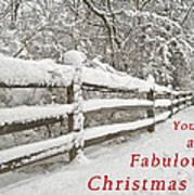 Christmas Path Poster