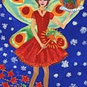 Christmas Pudding Fairy Poster