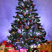 Christmas Tree And Presents Poster
