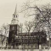 Christs Church Philadelphia In Sepia Poster