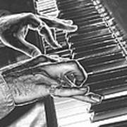 Chrome Piano Man Poster