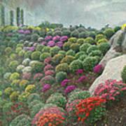 Chrysanthemum Garden - Ott's Greenhouse Schwenksville Pa Poster