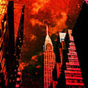 Chrysler Building - New York City Surreal Poster