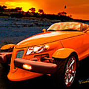 Chrysler Plymouth Prowler Rocky Sunset Poster