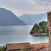 church at the Lake Como Poster