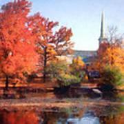 Church In Autumn Poster
