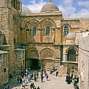 Church Of Holy Sepulchre Old City Jerusalem Poster