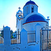 Church Oia Santorini Greece Poster