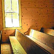 Church Pews - Light Through Window Poster