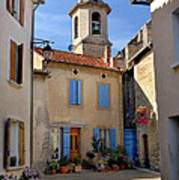 Church Steeple In Provence Poster