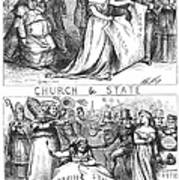 Church/state Cartoon, 1870 Poster