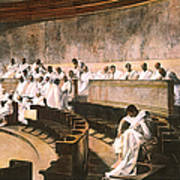 Cicero In Senate Poster
