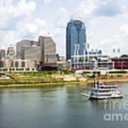 Cincinnati Skyline With Riverboat Photo Poster