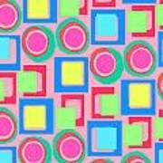 Circles And Squares Poster