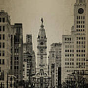 City Hall From North Broad Street Philadelphia Poster