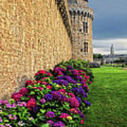 City Wall Vannes France Poster