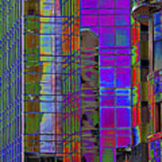 City Windows Abstract Pop Art Colors Poster