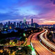 Cityscape Of Kuala Lumpur Poster